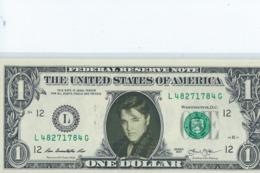 BILLET 1 Dollar Americain Vrais Billet     Elvis Presley - Prove Private