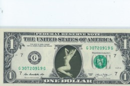 BILLET 1 Dollar Americain Vrais Billet     Marling Monroe - EURO