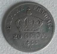 20 CENTIMES - 1866 A - NAPOLEON III - - E. 20 Centesimi