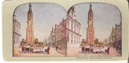 Street Scene And Cathedral, Holland - Stereoscope Cards