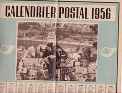 Calendrier Des Postes Belges Année 1956, Format A3, Bon état De Conservation - Calendriers