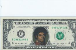 BILLET 1 Dollar Americain Vrais Billet   Michael Jackson - EURO