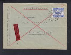 Feldpost Expres Brief 1942 Luckau An 03939 Russland - Deutschland