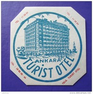 HOTEL  PENSION MOTEL OTELI OTEL TURIST ANKARA ISTANBUL TURKEY DECAL STICKER LUGGAGE LABEL ETIQUETTE AUFKLEBER - Etiketten Van Hotels