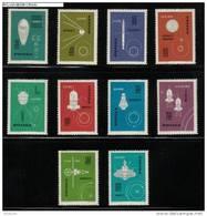 POLAND 1963 SPACE EXPLORATION NHM Cosmos Rockets USA Russia USSR Sputnik Explorer Satellites Wostok Mars - Unused Stamps