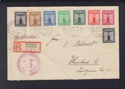 Dt. Reich R-Brief 1938 NS Frauenschaft Ebersbach - Officials