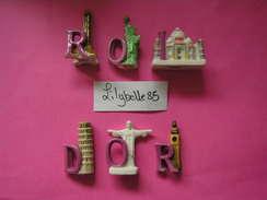 Série Complète De 6 Feves Perso En Porcelaine - ROIDOR ( Feve ) - Regions