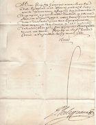 Lettre De Cachet Signée LOUIS - Documents Historiques