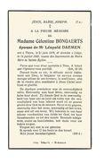 689. Célestine BONGAERTS Echtg. L. DAEMEN - °THORN 1879  / +LUIK 1950 - Images Religieuses