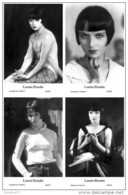 LOUISE BROOKS - Film Star Pin Up PHOTO POSTCARD - Publisher Swiftsure Postcards 2000 SET 49-52 - Artisti
