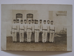 Cpa, Trés Belle Carte Photo Animée, Sathonay Le 7 Avril 1910 - Régiments