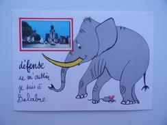 36 Environs De BELABRE Eléphant Souris Humour Humoristique édition FL - France