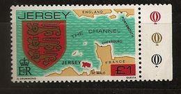 Jersey 1983 N° 271 ** Carte, Jersey, Blason, Armoiries, Cherbourg, Saint-Malo, Portsmouth, Édouard Ier D'Angleterre Lion - Jersey