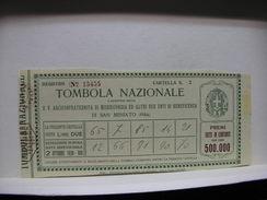 LOTTERIA  - CONCORSO  - TOMBOLA  ----ROMA -- S. MINIATO  -PISA -- 1930- R.V. ARCICONFRATERNITA DI MISERICORDIA  E ALTRI - Lottery Tickets