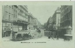 Marseille 8 La Cannebière Phot Lacour Tramway à Cheval  Castellane Joliette Bureau Compagnie Navigation Mixte - Canebière, Centre Ville