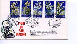 SAN MARINO  -   1957 Flowers & Monte Titano  FDC1226 - FDC