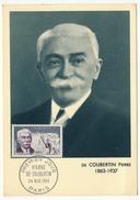 FRANCE => CARTE MAXIMUM => 30 F Pierre De Coubertin - 1950-59