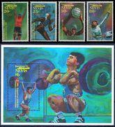 NEVIS 1992 - OLYMPICS BARCELONA 92 - YVERT Nº 638-641 + HB 49**  MICHEL 659-666 + BLOCK 44 - SCOTT 708-715 + SS 717 - Ciclismo