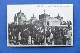 Cartolina Milano - Interno Cimitero Monumentale - 1915 Ca. - Milano