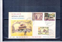 FDC Vietnam - Vestiges Historiques - 1975 - Série Complète (à Voir) - Viêt-Nam