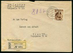 BR Österreich   1948 Reco Brief Von Schwechat Nach Österreich, Wien - 1945-.... 2a Repubblica