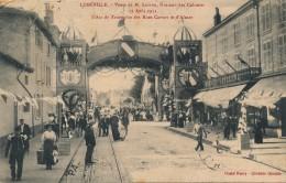 G151 - 54 - LUNEVILLE - Meurthe-et-Moselle - Visite De M. Lebrun, Ministre Des Colonies 12 Août 1911 - L'Arc De Triomphe - Luneville