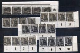 All. Kontrollrat MiNr 943 A Bis C In Postfrischen Einheiten (16330) - Zona AAS