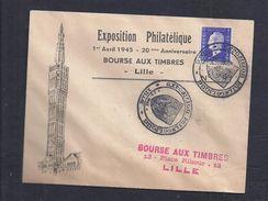 Enveloppe Exposition Philatelique Lille 1945 Dulac 6 - France