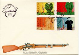 ANGOLA  -  1991 The 30th Anniversary Of The Armed Independence Movement - Freedom Fighters' Uniforms    FDC1264 - Angola