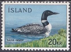 Island Iceland 1967 Tiere Fauna Animals Vögel Birds Eistaucher, Mi. 408 ** - Ungebraucht