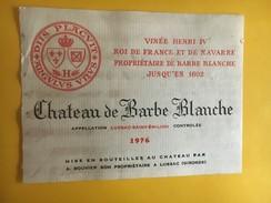 6039 - Château De Barbe Blanche 1976 Lussac Saint-Emilion Vinée Henri IV - Bordeaux
