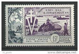 "Cote Somalis Aerien YT 24 (PA) "" Libération "" 1954 Neuf** - Neufs"