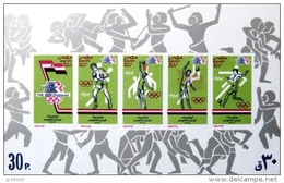 EGYPTE Jeux Olympiques LOS ANGELES 84. Yvert BF 41 ND (imperf). ** MNH. Football, Volley Ball, Basket, Boxe - Summer 1984: Los Angeles