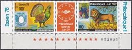 Senegal 1978 Tiere Fauna Animals Vögel Birds Auerhahn Löwen Lion Philexafrique Essen, Mi. 688-9 ** - Senegal (1960-...)
