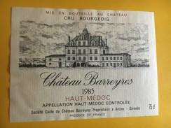 6047 - Château Barreyre 1985 Haut-Médoc - Bordeaux