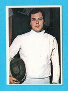 FENCING - Mediterranean Games 1979. * MINT STICKER * Escrime Esgrima Fechten Scherma Fence * Jeux Mediterraneens - Fencing