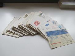 UDSSR GA / Belegeposten 140 Stk. Auch Riga / Pärnu / Lettland. R.S.S. De Lettonie. Weltraum Usw. 1960 - 80er Jahre - Briefmarken