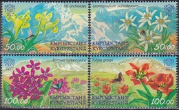 Kirgisistan Kyrgyzstan Express 2016 Pflanzen Flora Blumen Blüten Iris Edelweiß Primeln Tulpen, Mi. 33-6 ** - Kirgisistan