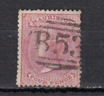 Maurice  Victoria  4p Rose  YT N°25 - Maurice (...-1967)