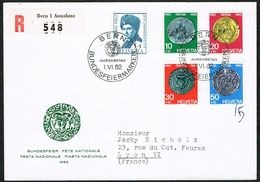 FDC PRO/P LA SERIE 1962 C/DES TIMBRES SUISSES Nr:B108/B112. Y&TELLIER Nr:693/697. MICHEL Nr:751/755. - FDC