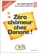 CFDT - Un Emploi Garanti Pour Chaque Salarié De LU - Zéro Chômeur Chez DANONE - Syndicalisme Hebdo N° 2837 - Syndicats