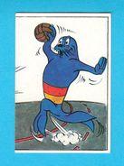 HANDBALL - Mediterranean Games 1979. ( Mascot Mediter. Monk Seal ) * MINT STICKER * Hand-ball * Jeux Mediterraneens - Handball
