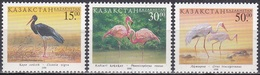 Kasachstan Kazakhstan 1998 Tiere Fauna Animals Vögel Birds Storch Störche Flamingo Kranich, Mi. 226-8 ** - Kazakhstan