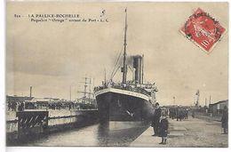"""LA PALLICE ROCHELLE - Paquebot """"Ortega"""" Sortant Du Port - La Rochelle"""