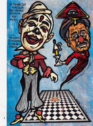 CPM Achille ZAVATTA Auguste Clown Cirque Circus Cirk Franc-Maçon Masonic Tirage Limité Illustrateur LARDIE / JIHEL - Lardie