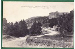 66 - FONT-ROMEU Par ODEILLO - La Route Et Le Grand Hôtel - Autres Communes