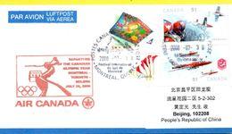 Vol Spécial Air Canada Montréal Toronto Pékin - 31/07/08 - équipe Olympique Canadienne - Ete 2008: Pékin