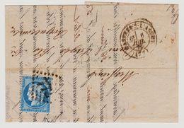 Cérès N° 60 A Position 84 G1 GC 772 Sur Lettre 2 Scans - 1871-1875 Cérès
