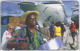 BRITISH VIRGIN ISLANDS - MAN DRUMS CRUISESHIP - BLACK CHIP - Virgin Islands