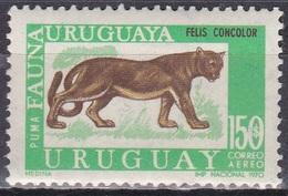Uruguay 1970 Tiere Fauna Animals Raubkatzen Puma Silberlöwe, Mi. 1189 ** - Uruguay